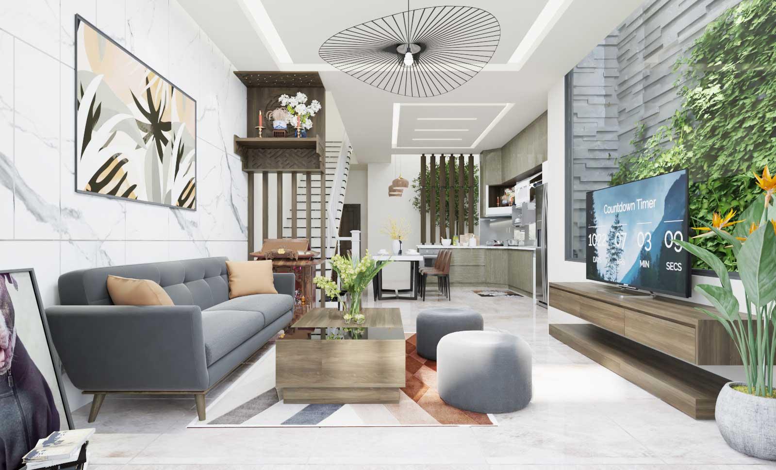 Thiết kế nội thất gần gũi với thiên nhiên