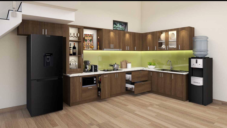 Thiết kế tủ bếp nhà chị Linh - Quảng Bình