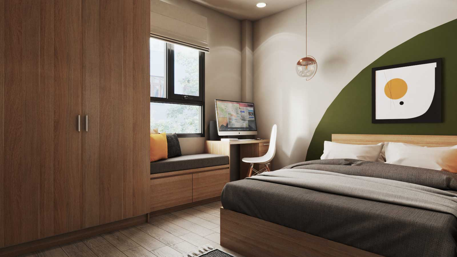 Thiết kế phòng ngủ nhà anh Quang