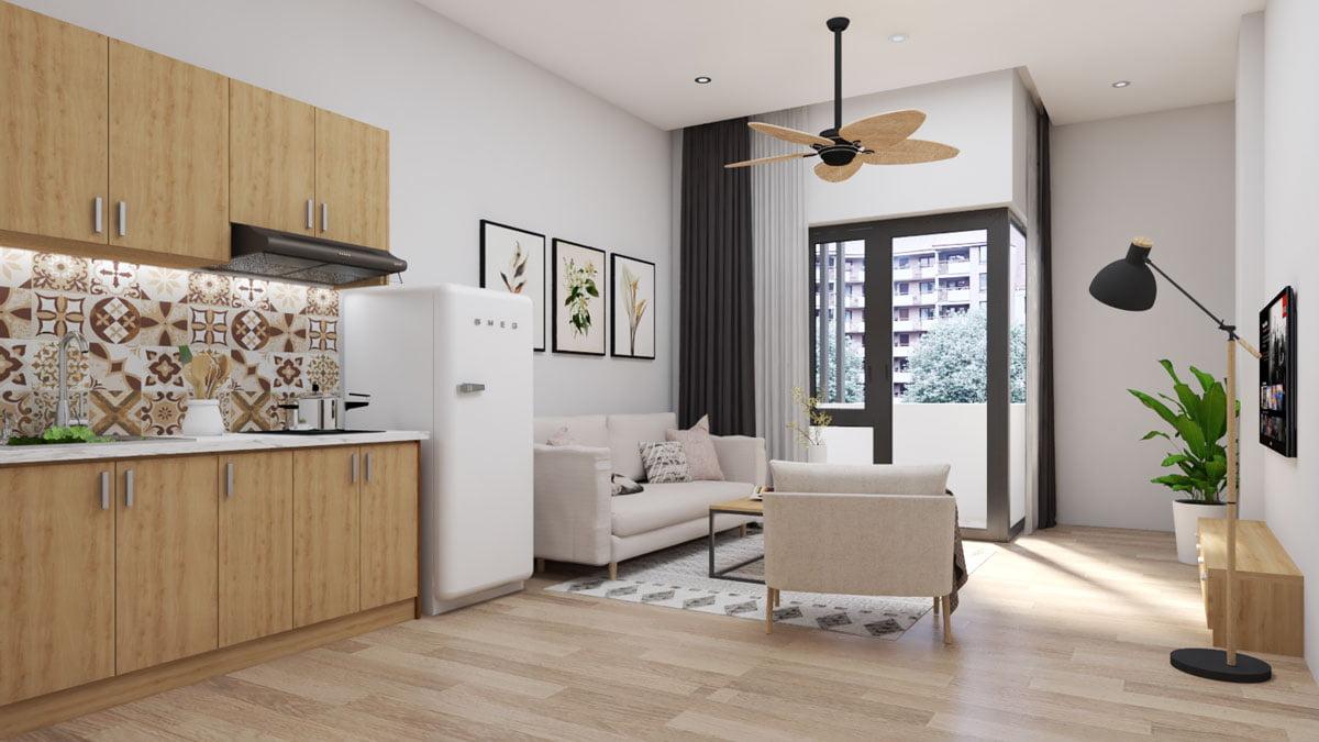 Thiết kế căn hộ anh Bình