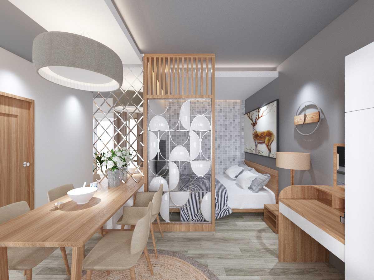 Thiết kế căn hộ chị Hạnh - Bắc Mỹ An