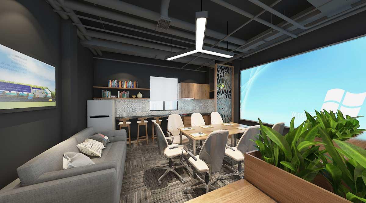 Thiết kế nội thất văn phòng TBF