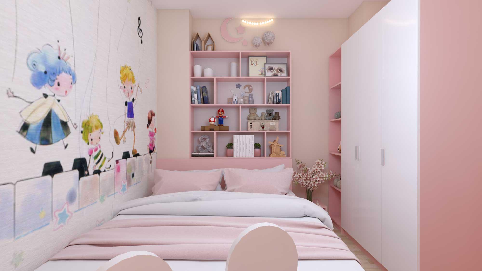 Thiết kế phòng ngủ con gái nhà anh Huy