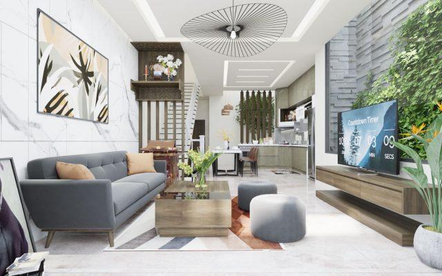 Phòng khách và thiên nhiên