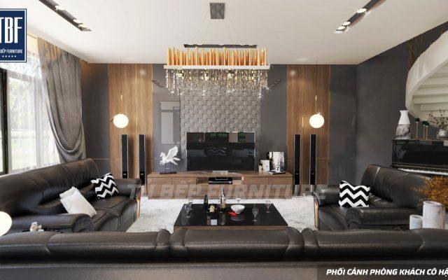 Phòng khách và vách trang trí