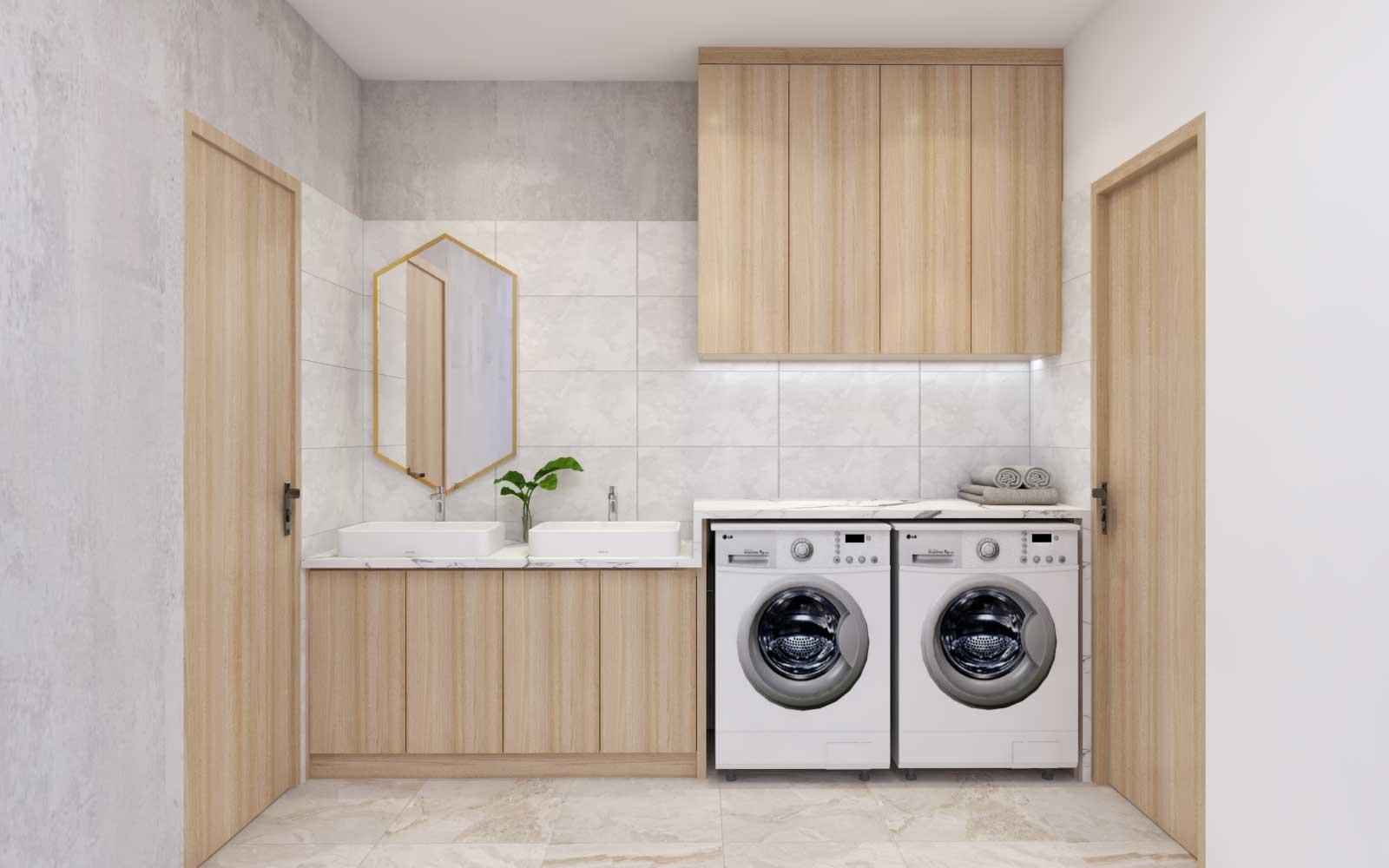 Thiết kế tủ Lavabo gỗ phòng tắm