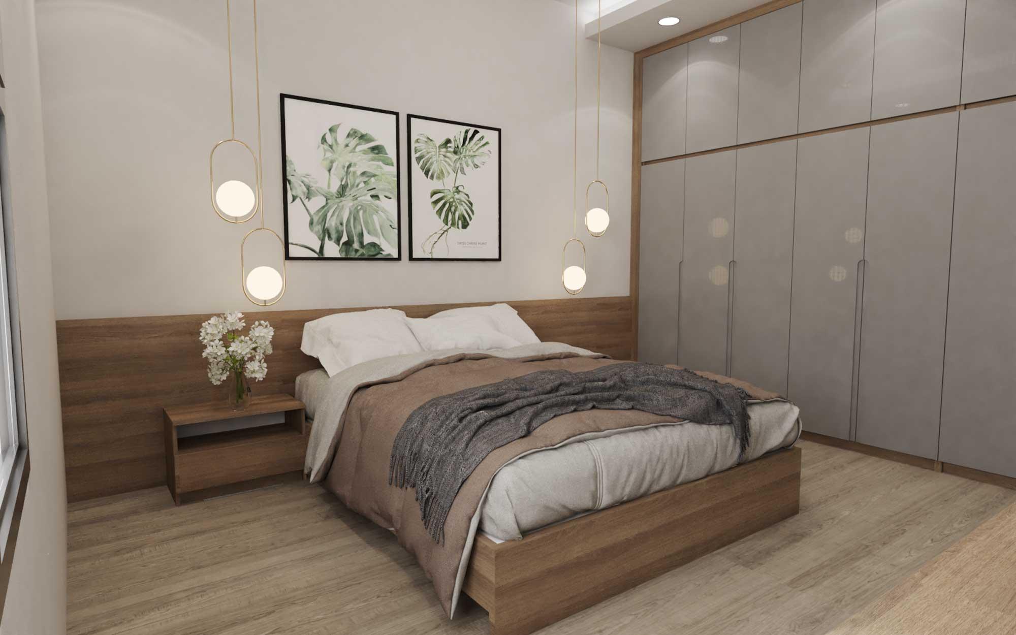 Thiết kế vách ốp đầu giường