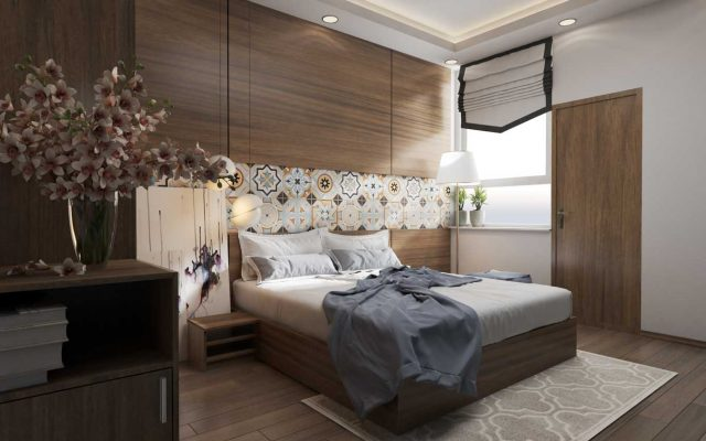 Vách ốp tường đầu giường